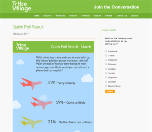 Tribe Village results screenshot