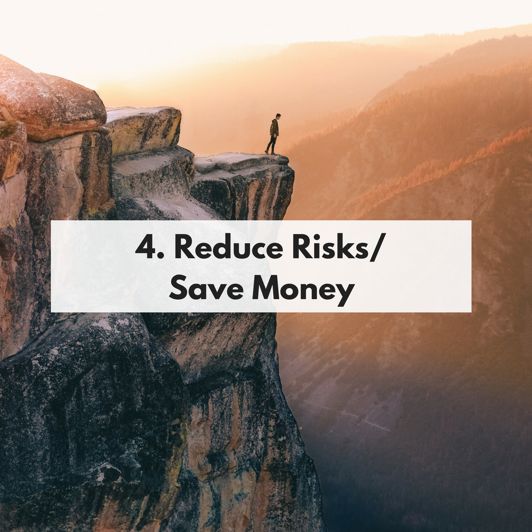 Reduce Risks/Save Money